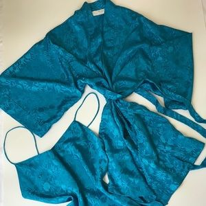 Vintage Val Mode Slip Dress and Robe Set
